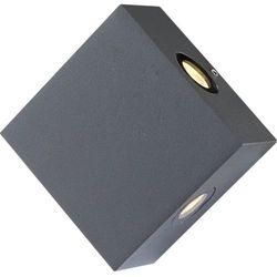 Zewnętrzna LAMPA ścienna ISONO 34268 Globo aluminiowa OPRAWA elewacyjna LED IP54 outdoor kwadratowa ciemnoszary, kup u jednego z partnerów