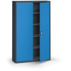 Szafa metalowa, 1950 x 1200 x 400 mm, 4 półki, antracyt/niebieski marki Kovona