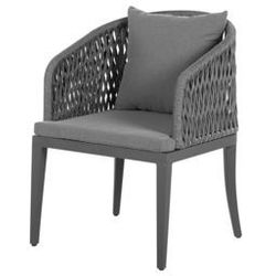 Beliani Zestaw 2 krzeseł szare LIPARI (4251682205498)