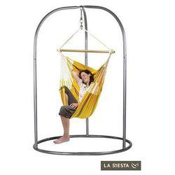 Zestaw hamakowy: fotel hamakowy currambera ze stojakiem romano, pomarańczowy cuc14roa16 marki La siesta