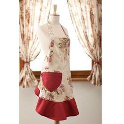 Dekoria Fartuszek damski sukienka, klasyczne róże,beżowe tło, 60x82 cm, Flowers