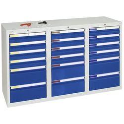 Szafka z szufladami, wys. x szer. x gł. 900x1500x500 mm, 12 szuflad o wys. 100 m marki Stumpf-metall