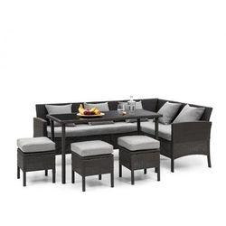 Blumfeldt titania dining lounge set komplet mebli ogrodowych, czarny/jasnoszary (4060656193880)