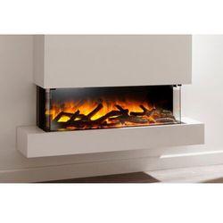 Kominek do montażu ściennego flamerite fires iona 900 15x10 cb z nadbudową. efekt płomienia nitra flame -20 kolorów- promocja marki Flamerite fires - nowość 2021