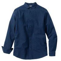 Bonprix Koszula z kory, długi rękaw slim fit  ciemnoniebieski w paski