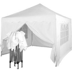 Instent ® Ekspresowy biały pawilon namiot handlowy 3x3m + 4 ścianki - biały (30030333)