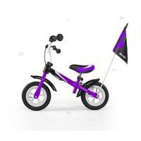 Rowerek biegowy dragon deluxe z hamulcem fioletowy #b1 marki Milly-mally