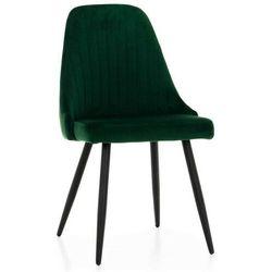 Meblin Solidne krzesło tapicerowane z metalowymi nogami ▪️ lars (dc2103) ▪️ welur zielony