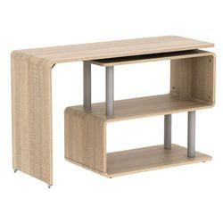 Rozkładane biurko invento – mdf – blat obrotowy 360° – kolor: dąb marki Vente-unique
