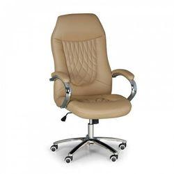 B2b partner Krzesło biurowe superior w skórze, beżowy