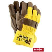 Rękawice robocze wzmacniane skórą licową RLCMŻ rozmiar 10