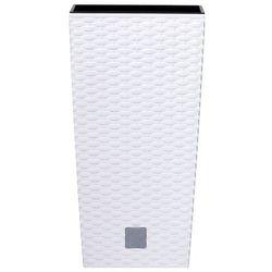 4home Prosperplast osłonka na doniczkę rato square biały, 17x17x32,4cm