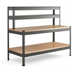 Aj produkty Stół warsztatowy combo, utwardzana płyta, półka dolna, nadstawka, 1840x775x1530 mm