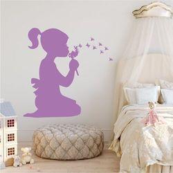 Naklejka na ścianę dla dzieci dziewczynka z dmuchawcem 2274