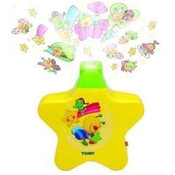 lampka nocna z pozytywką i projektorem kolor żółty marki Tomy