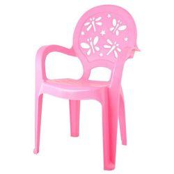 Krzesełko dziecięce różowe marki Pucuś