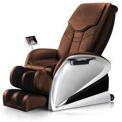 Fotel do masażu inSPORTline Sallieri czarny - Kolor Ciemny brązowy, kolor brązowy