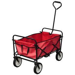 Vidaxl składany wózek z wygodną rączką.