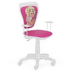 Obrotowe krzesło dziecięce MINISTYLE WHITE - Barbie 5, Nowy Styl