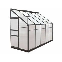 Szklarnia ogrodowa z poliwęglanu dostawiana do budynku o pow. 3,7 m² calice ii z podstawą - antracytowa marki Vente-unique