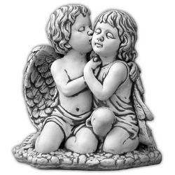Figura ogrodowa betonowa para całujących sie aniołów 41cm