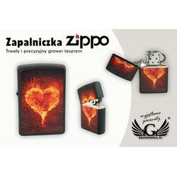 Zapalniczka Zippo Burning Heart Black Matte