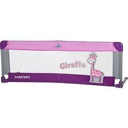 Bariera ochronna CARETERO do łóżka Safari Giraffe fioletowy + DARMOWY TRANSPORT! - produkt z kategorii-