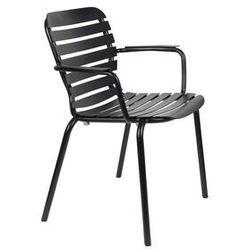 Zuiver krzesło ogrodowe z podłokietnikami vondel czarny 1700004 (8718548055506)