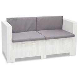 Dwuosobowa technorattanowa sofa Colorado biała