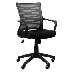 Krzesło biurowe obrotowe KB-2022 czarny/SZARY, KB-2022 CZ/SZ
