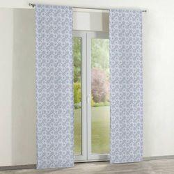zasłony panelowe 2 szt., szaro-błękitne wzory, 60 × 260 cm, flowers marki Dekoria