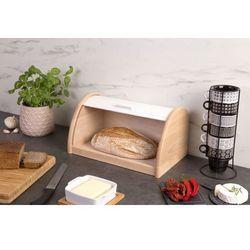 Drewniany chlebak, pojemnik na pieczywo, 39x25x21cm, ZELLER, B00CFID3HC
