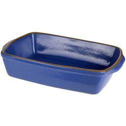 Ceramiczne naczynie żaroodporne do zapiekania 3,5 l, granatowe marki Eh excellent houseware