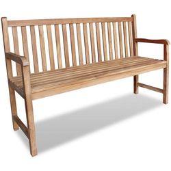 ławka ogrodowa z drewna tekowego marki Vidaxl