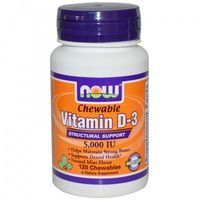 Witamina D3 5000IU 120 chewables (tabletki do żucia)