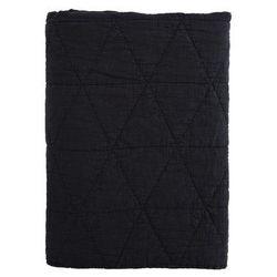 Madam stoltz Narzuta do sypialni 140x200 czarna (4509705750670)