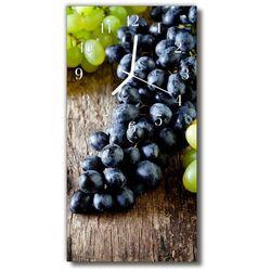 Zegar szklany pionowy kuchnia winogrono owoce kolorowy marki Tulup.pl