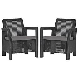 Fotel ogrodowy CURVER Tarifa Szaro-jasnoszary (2 sztuki) 17203401