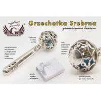 GRZECHOTKA - SREBRO - Pamiątka Chrztu Świętego - wzór SRB008
