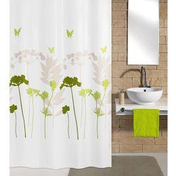 Kleine Wolke Tekstylna zasłona prysznicowa BARCELONA 180 x 200 cm koniczyna (4004478194977)