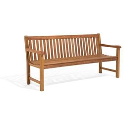 Ławka ogrodowa drewniana 180 cm poducha ceglasta JAVA (4260586359602)