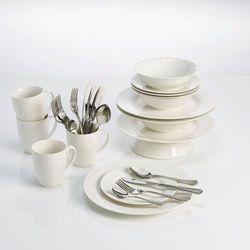 Maxwell & Williams - Basics Round - Zestaw obiadowo - kawowy na 4 osoby (9315121747965)