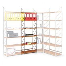 Regał biurowy, podstawowy, 2030x600x365 mm, czereśnia