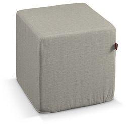 Dekoria Pufa kostka, szaro-beżowy o wyraźnej strukturze, 40 × 40 × 40 cm, Granada