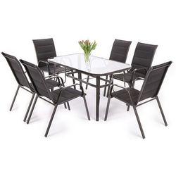 Meble ogrodowe HOME&GARDEN aluminiowe Toscana 6+1 Czarny, kup u jednego z partnerów
