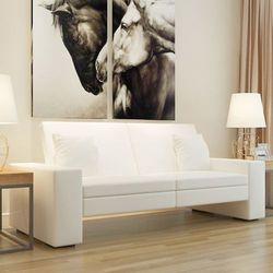 vidaXL Rozkładana kanapa z dużym oparciem, biała, kup u jednego z partnerów