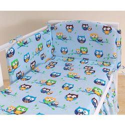 MAMO-TATO pościel 3-el Sówki błękitne do łóżeczka 60x120cm, kup u jednego z partnerów