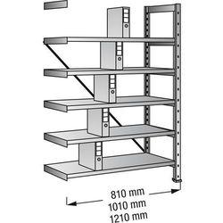 Scholz regalsysteme Regał wtykowy na segregatory i archiwum, ocynkowany, wys. 1920 mm, jednostronne,