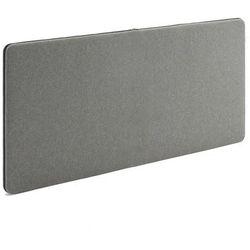 Śceinny panel dźwiękochłonny Zip 1400x650 mm szary czarny suwak, 129572