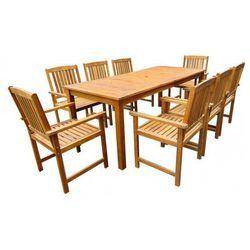 Producent: elior Drewniany zestaw mebli ogrodowych kint 4x - brązowy